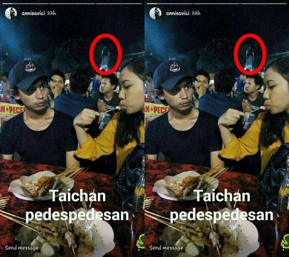 SERAM!! Foto Penampakan Kuntilanak di Warung Sate Taichan Ini Viral di Instagram, Bikin Merinding..!!