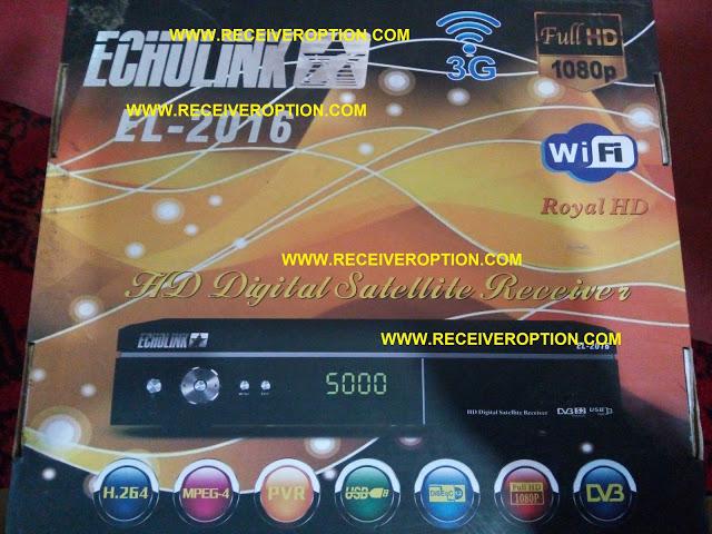 ECHOLINK EL-2016 HD RECEIVER AUTO ROLL POWERVU KEY NEW SOFTWARE