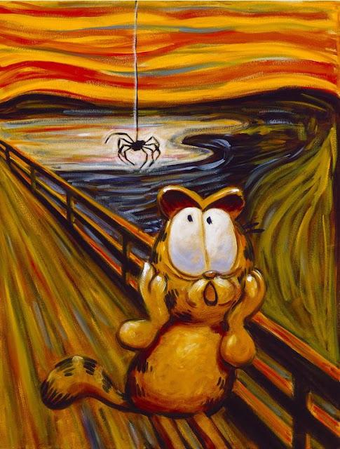 El grito de Munch - Versión Garfield