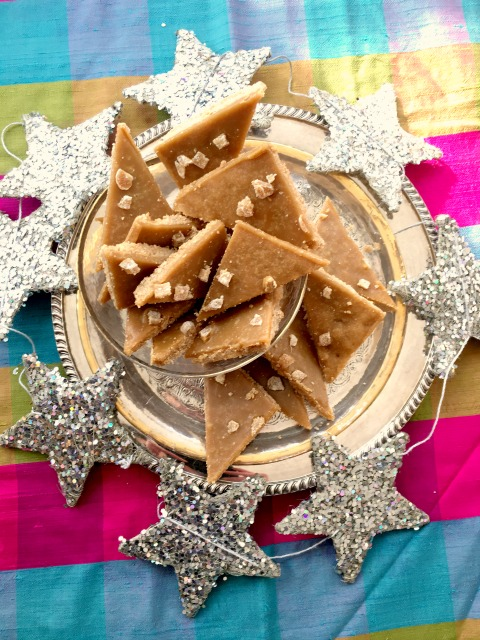 Skibo Castle Ginger Crunch: a thin ginger shortbread base topped with a buttery ginger syrup.  It's an easy recipe and makes a lot so is great for a crowd.