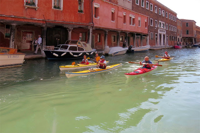 Kayaking along the canals, Murano, Venice