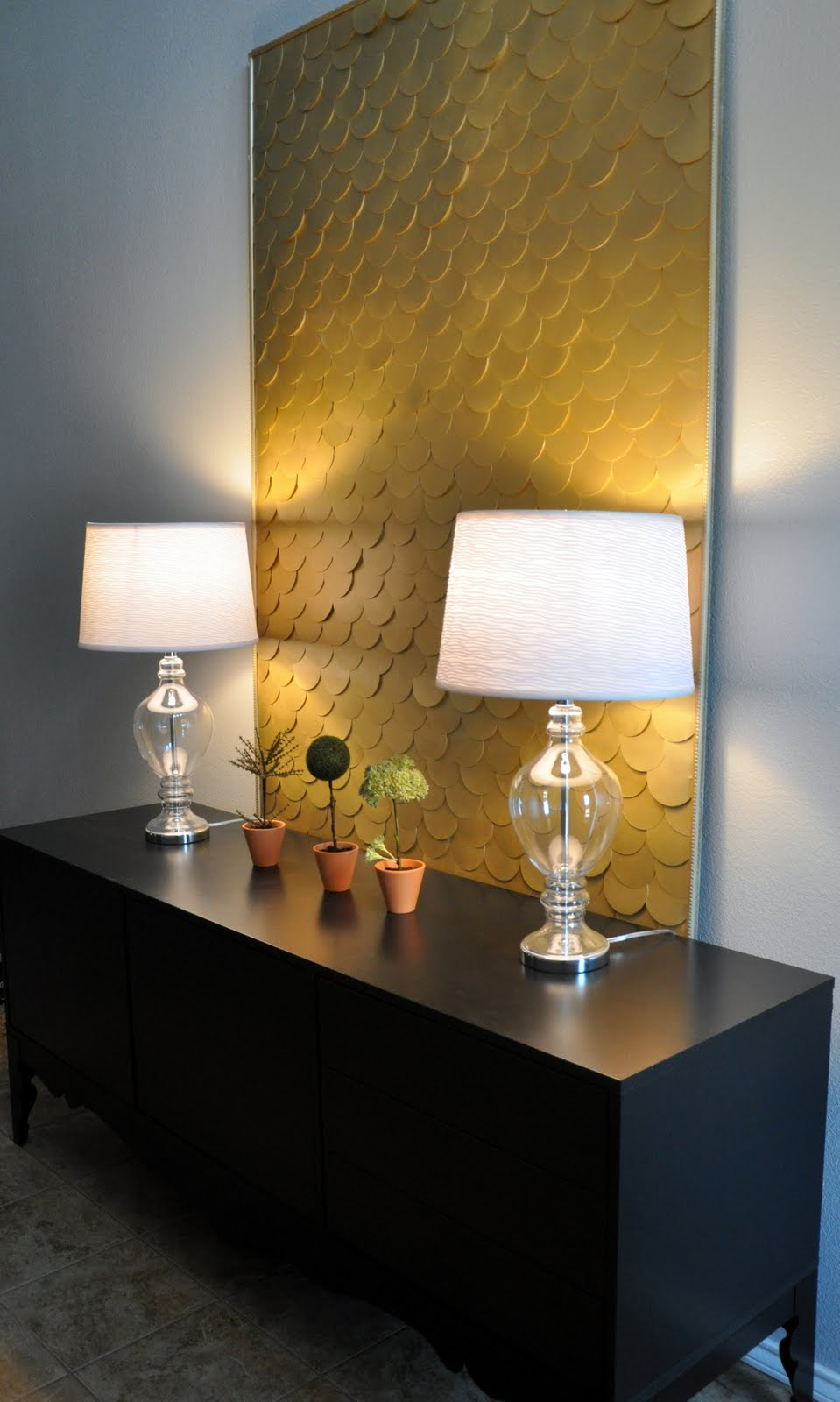 Simple Details Diy Fish Scale Lamp Shade