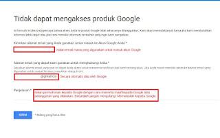 Form pegajuan banding kepada Google atas Suspended Youtube account