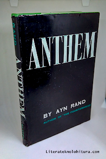 hardcover anthem by ayn rand front cover