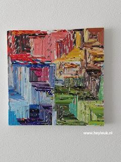 schilderij papieren pijlen