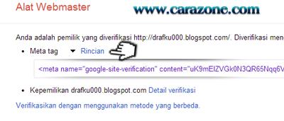 Cara Daftar Verifikasi Blog di Google Webmaster
