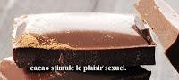 cacao stimule le plaisir sexuel pour santé sexuelle parfaite