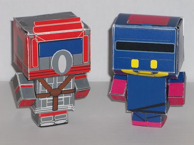 M.A.S.K. Papercraft Figures And DIY Video