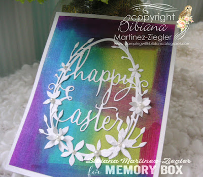easter card painted background side view
