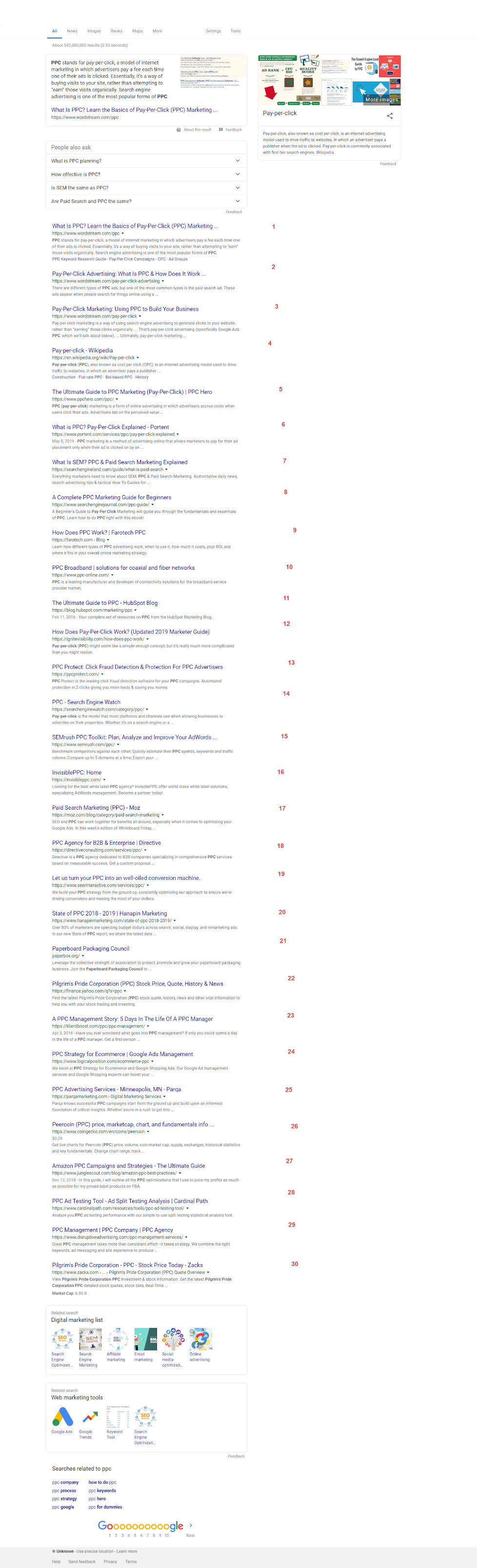 Google Displays an Unusual Search Page With 30 Results