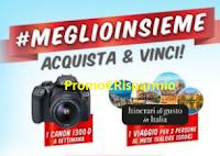 Logo #MeglioInsieme e con Pizza Bella Napoli e Angelo Poretti vinci fotocamere Canon e buoni viaggio!