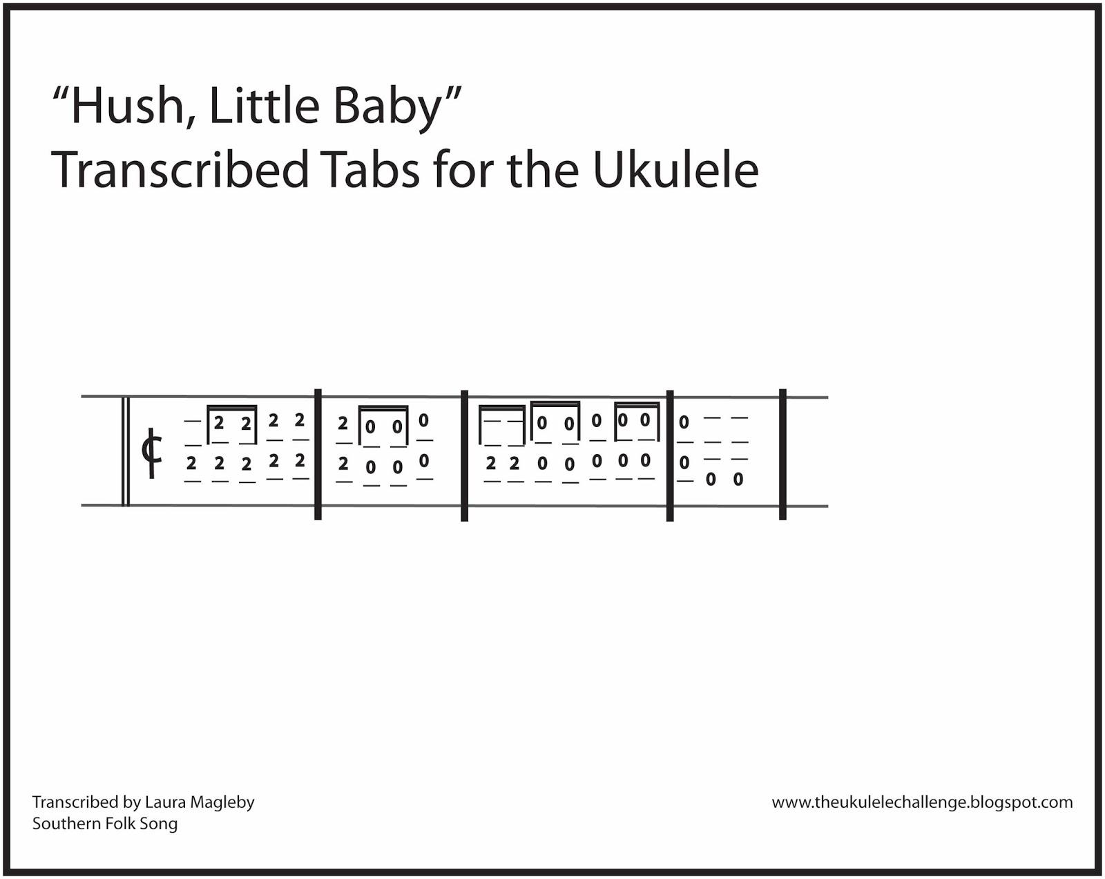 The Ukulele Challenge Hush Little Baby