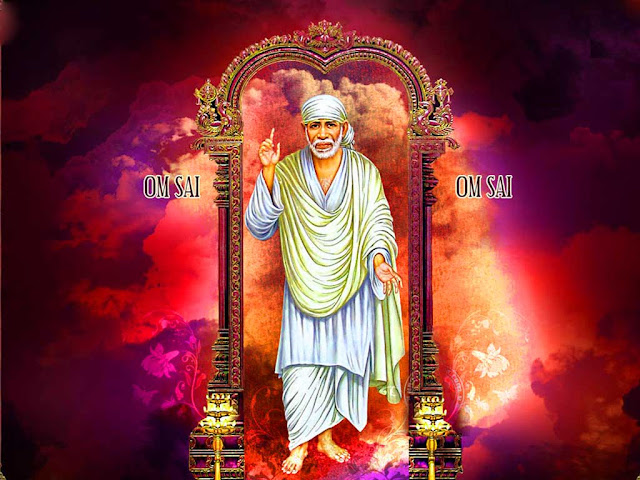 Best Lord Sai Baba Wallpaper Full Size In Red Background