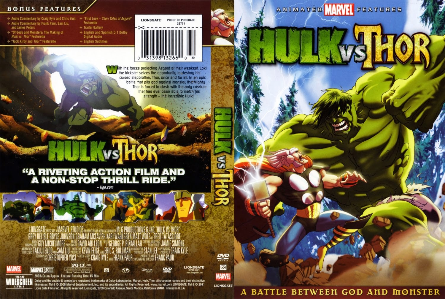 hulk vs thor dublado avi
