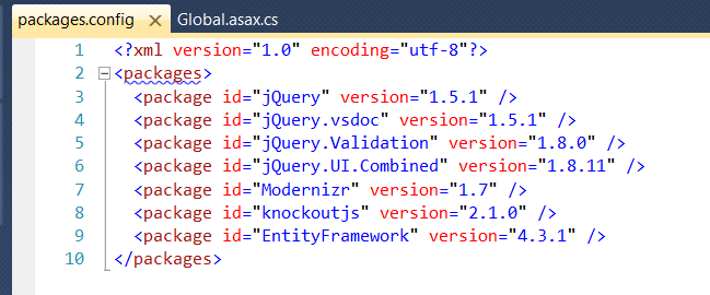 Install-Package Conflict in JQuery Reference when using Package