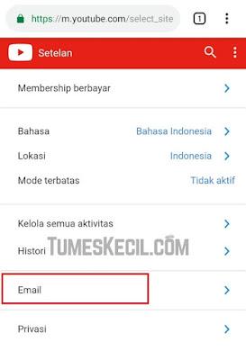cara menghilangkan notifikasi youtube di email