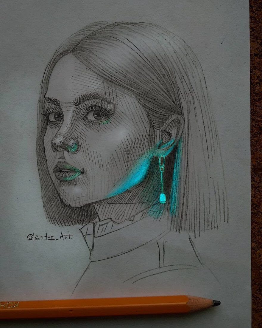09-Ellen-Sheidlin-Chertkova-Lena-Drawing-Portraits-with-a-Flash-of-Color-www-designstack-co
