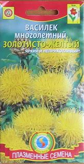 василек желтый - неприхотливое украшение вашего садика