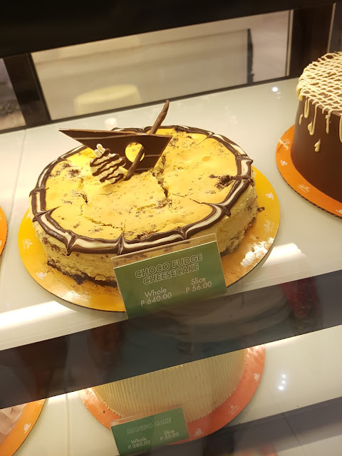 Leona's Bakeshop Choco Fudge Cheesecake @P56.00 per slice