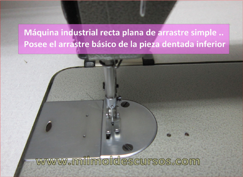 MÁQUINA DE COSER INDUSTRIAL DE ARRASTRE SIMPLE
