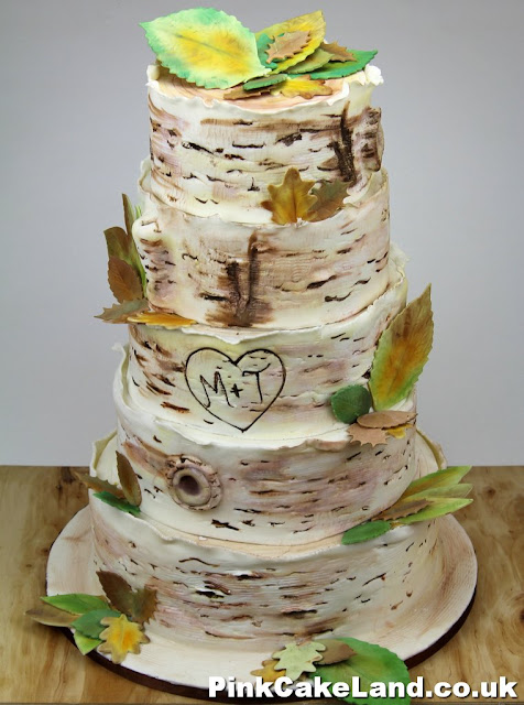 Birch Tree Wedding Cake, London