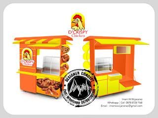 produksi gerobak chicken crispy
