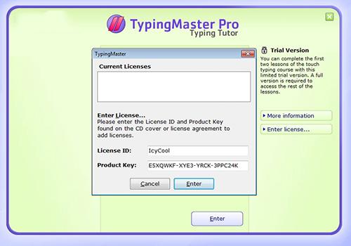 typing master key