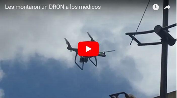 Régimen vigila con un Drone la marcha de la Salud - Igualito al que explotó