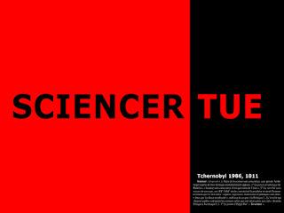 "Montage ""Sciencer tue"" concernant la catastrophe de Tchernobyl"