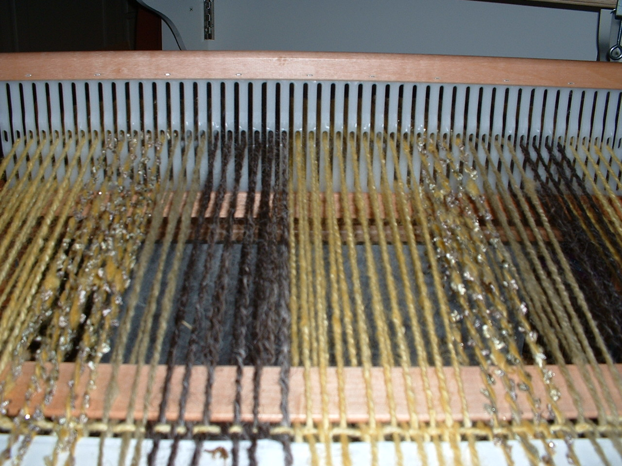 Artisan Meadows: Warping the Ashford Knitter's Loom