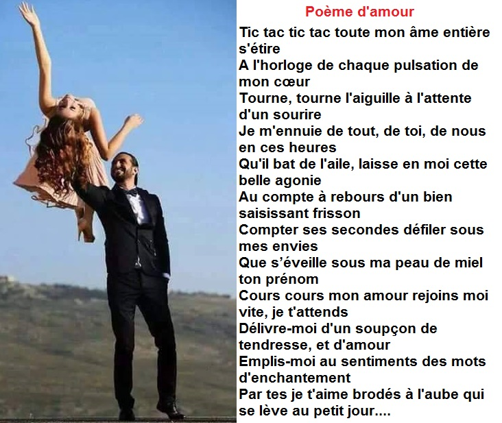 Poeme d'amour amusant
