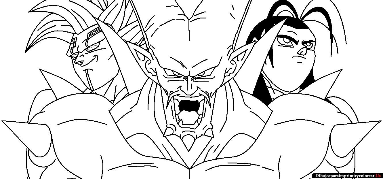 Colorear Dragones Dragon Ball Z Para Dibujos Para Colorear: Dibujos De Dragon Ball Super Para Colorear Dificiles