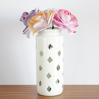 DIY upcycled Diamond jar