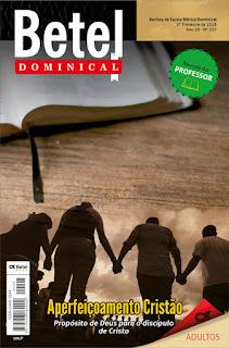 Editora Betel - Lição 4 Disciplina e o processo educacional de Deus.