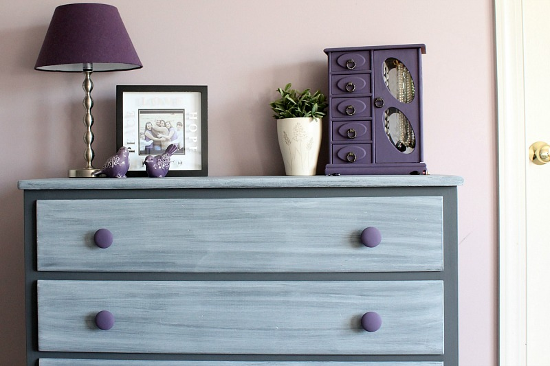 awesome Purple Chalk Paint Furniture Part - 9: Dresser Makeover- How to grey wash a dresser with chalk paint!