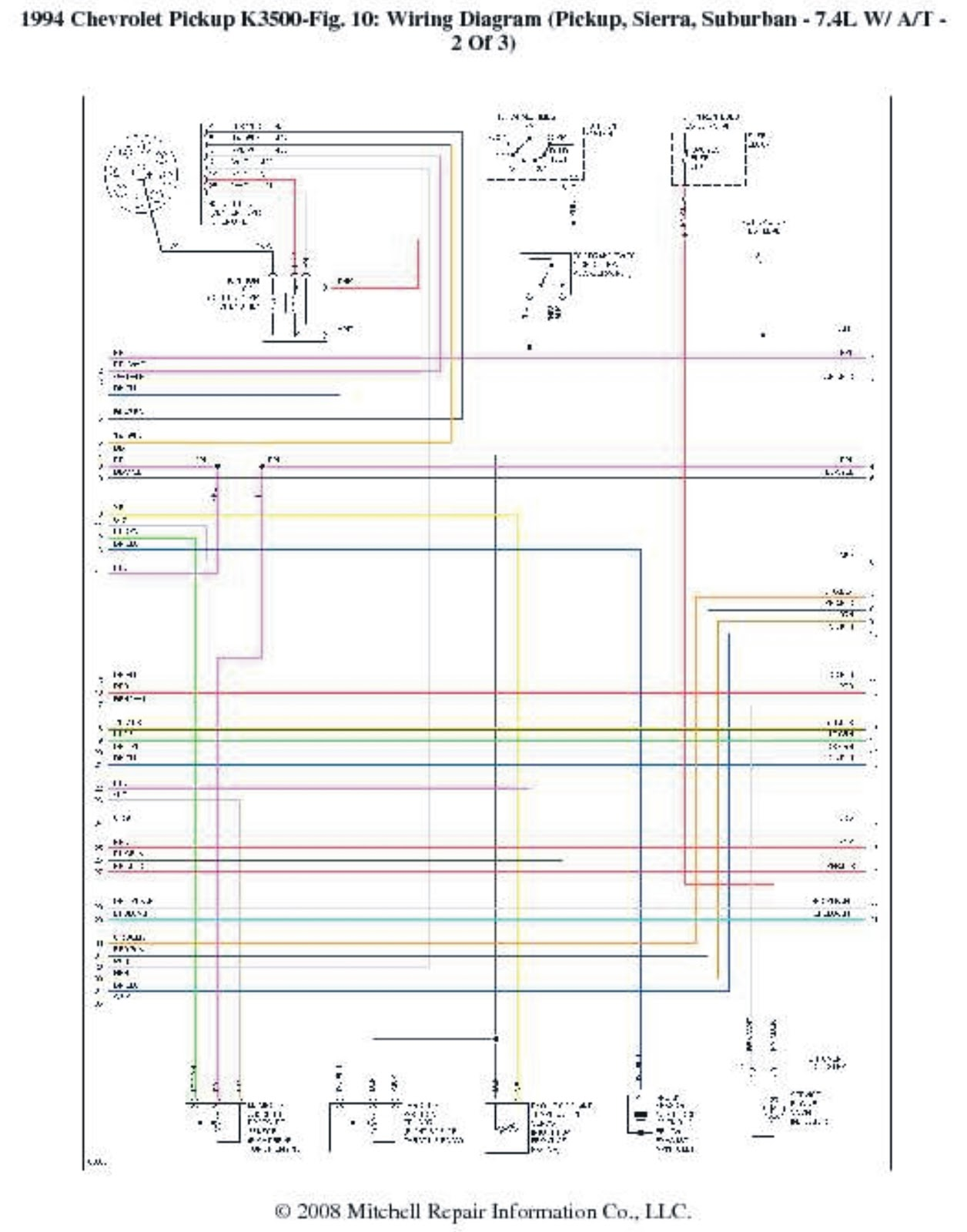 1994 Chevrolet PickUp K3500 Wiring Diagrams | Wiring