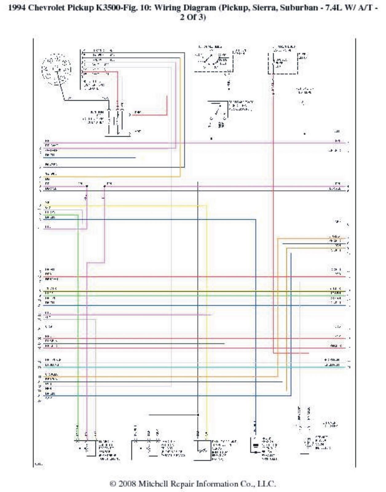 1994 Chevrolet PickUp K3500 Wiring Diagrams | Wiring