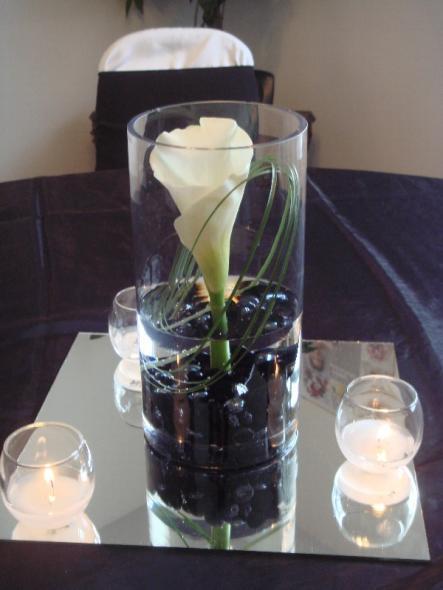 centerpiece vase centerpieces cylinder glass decorations idea elegant rocks decoration pieces deco flower diy river cheap flowers simple mirror modern