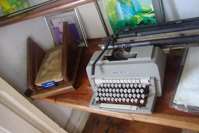 Máquina de escrever de Jorge Amado exposta em sua casa-museu, em Ilhéus