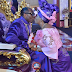 Former CAN president, Ayo Oritsejafor and his wife, Helen, Kiss Passionately during church service [Photos]