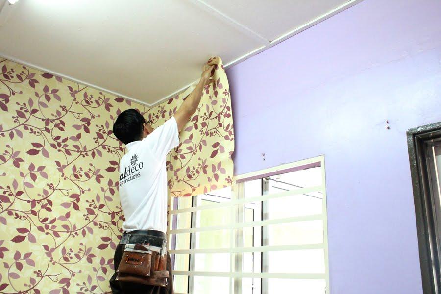 Pelanggan Kediaman Ini Juga Tidak Melen Peluang Dengan Memlih Dua Rona Dan Corak Wallpaper Bagi Menghiasi 2 Bilik Tidurnya