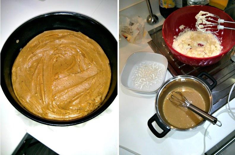Millionaire Cheesecake preparation