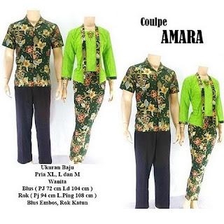 model kebaya batik pasangan Amara hijau