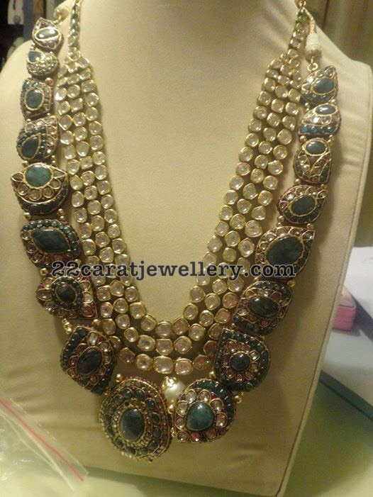 Polki Emerald Vintage Necklace