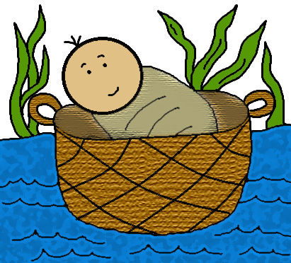 Church House Collection Blog Free Baby Moses In The Basket Clip Art