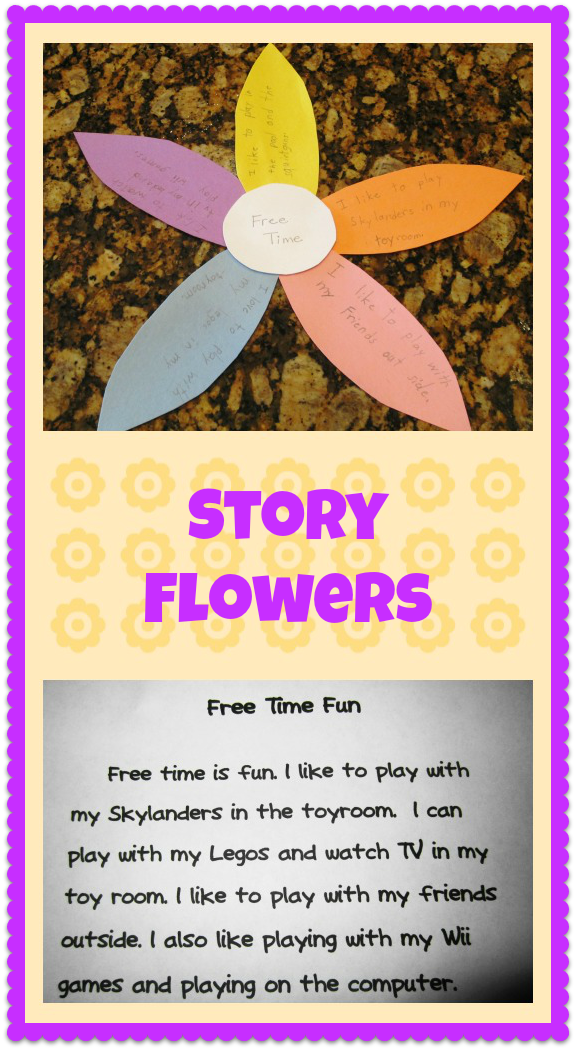 Teaching with TLC Story flowers make writing paragraphs FUN