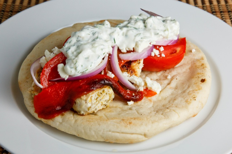 Chicken Souvlaki Gyro