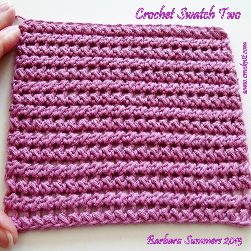 MICROCKNIT CREATIONS: SWATCH TWO - HALF DOUBLE CROCHET PAIRED