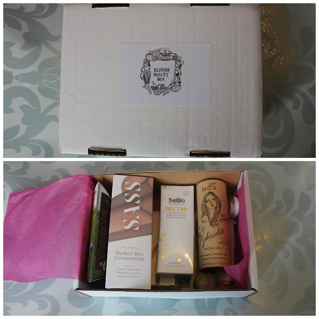 Photograph of the Blogger Beauty Box Contents