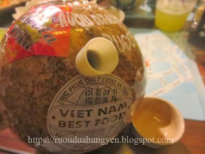 rượu dừa đào công thành hà nội
